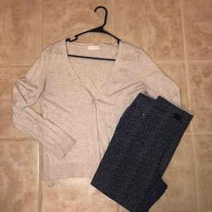 Cream button up sweater from Forever 21